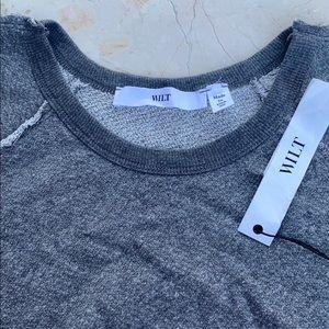 Wilt XS Grey Long Sweater Sweatshirt